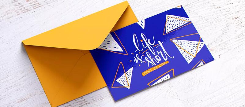 открытки с логотипом